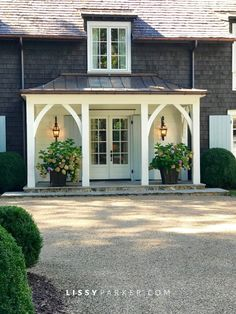 front porch ideas curb appeal 40 Incredible farmhouse front porch design ideas - Page 38 of 44 - Fathinah Decor Front Porch Design, Front Porch Addition, Front Porch Columns, Front Door Overhang, Portico Entry, Front Porch Pergola, House Columns, Front Doors, Side Porch