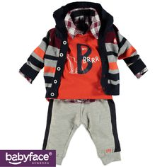 Part of the Babyface Newborn boys WINTER 2015 collection. In stores from September 2015. T-shirt, Cardigan and Pants.
