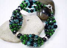 Oggun Ilde, Ildes de Santo, Santeria, Lucumi Religion, Green Bracelet, Orishas, Forest Bracelet