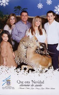 Just a very normal and not at all terrifying Christmas card from the mayor of San Juan, Puerto Rico