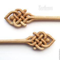 Купить Шильки из дерева резные(Ясень) - бежевый, солнечный, шпильки, заколка, палочка, палочки, для волос