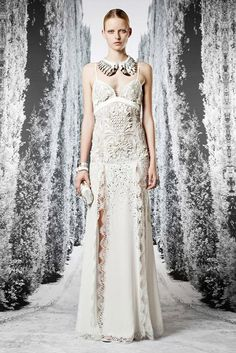 #Roberto Cavalli resort 2013   Beautiful #wedding dress for a destination wedding on the white sands of Costa Rica. #GLAM