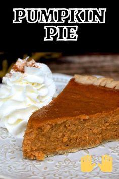 Easy Pumpkin Pie, Pumpkin Pie Recipes, Canned Pumpkin, Pumpkin Pie Spice, Fall Recipes, Holiday Desserts, Holiday Baking, Cake Mix Carrot Cake Recipe, Pumpkin Pie Ingredients