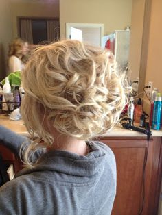 #updo #bridalhair #blonde #curls