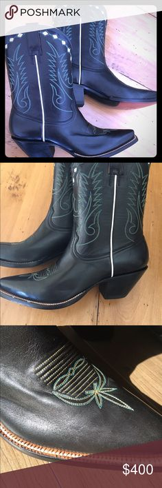 Women's authentic handmade Heritage boots Beautiful handmade boots bought in flagship store in Austin Texas. Worn once soles stitching and leather like new. No box tags or receipt feel free to look up this amazing company and their hand made products. Heritage Boots Shoes Heeled Boots