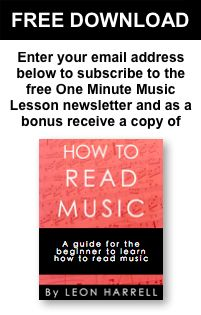 Lessons | Learn How to Read Music at the One Minute Music Lesson with Leon Harrell