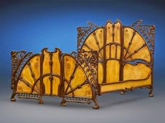 The Jewelry Lady's Store: Art Nouveau Cast Iron Bed