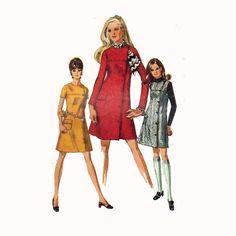 60s Mod Dress Coatdress or Jumper Sewing Pattern by HoneymoonBus