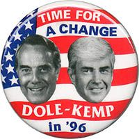 Gets our vote as the most attractive Dole-Kemp jugate. Pinback button promoting Bob Dole for president and Jack Kemp for vice president, N. Presidential Campaign Posters, Presidential History, Political Campaign, Presidential Election, Campain Posters, Jack Kemp, Us Election, History Class, Us Presidents