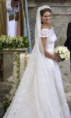 Magdalena de Suecia de Valentino http://conbdeboda.blogspot.com.es/search/label/Suecia
