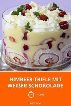 Himbeer-Trifle mit weißer Schokolade - smarter - Zeit: 1 Std.   eatsmarter.de