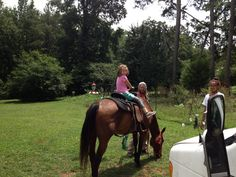 WE RODE HORSES THIS SUMMER!