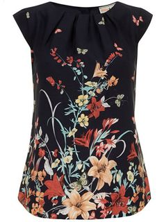 Billie and Blossom Navy butterfly blouse - View All Clothing Brands - Clothing