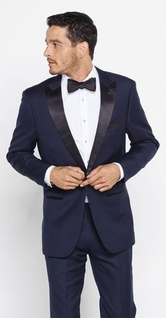 The midnight blue tux Mike will wear.