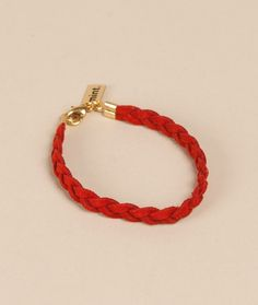 MINT suede braided armband red