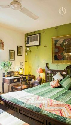 green indian bedroom ralotibetanrugs