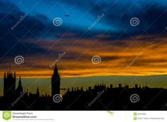 Photo about A picture taken from the Millennium Bridge at sunset looking across the Thames at the London skyline. Image of picture, history, english - 59443082