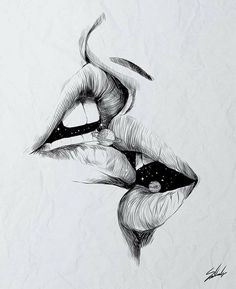 Image about love in Drawings by Beta on We Heart It Pencil Art Drawings, Art Drawings Sketches, Good Sketches, Beautiful Sketches, Eyes Artwork, Erotic Art, Love Art, Art Inspo, Amazing Art