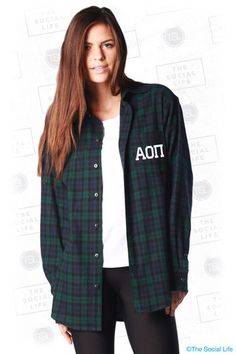 AOPi Boyfriend Flannel | The Social Life