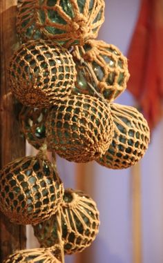 Glass floats. Cedar floats. Cork floats.