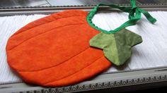 Pumpkin Baby Bib  Thanksgiving  Fall  Orange  Baby by livinhoopla, $10.00