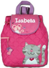 Cotton #quilted backpack from #Stephen Joseph. Cat and Mouse appliques will make the first day of school such fun! $23.00