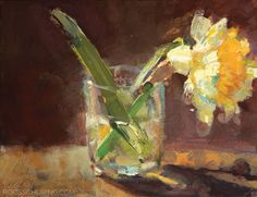 Painting a Narcissus in Gouache - Florals by Roos Schuring Rhino Animal, Watercolor Effects, African Elephant, Gouache Painting, Abstract Flowers, Wildlife Photography, Animal Photography, Daffodils, Still Life
