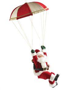 ¡Santa en paracaídas! #Navidad #Easy #Deco #Home
