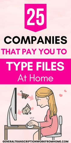 25 Online Transcription Jobs from Home for Beginners. Make money typing audio files and work from home as a transcriptionist. Make up to $4,000/Mo. These 25 legit transcription companies have remote transcription jobs for beginners. No experience required. Typing Jobs From Home, Online Typing Jobs, Work From Home Jobs, Online Jobs, Make Money From Home, How To Make Money, Transcription Jobs From Home, Transcription Jobs For Beginners, Medical Transcription