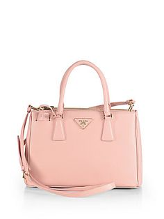 c3d5f09a3282 Prada - Saffiano Lux Small Double-Zip Tote. Beautiful HandbagsBeautiful  BagsPrada ...