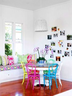 colorfull dining room
