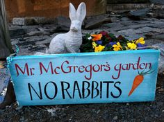 Handpainted  Mr. McGregor's Garden Sign On Shabby Reclaimed Wood on Etsy, $45.00