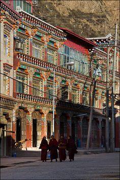 Streets of Kandze Tibet