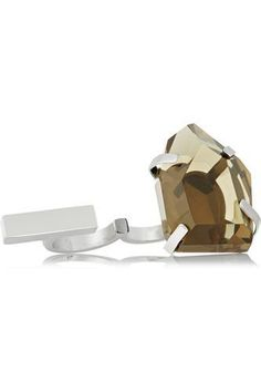 Juliane stainless steel and resin two-finger ring #accessories #covetme #bymalenebirger