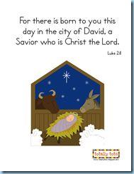 Christmas Printable Bible Verse