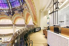 Starbucks store at Galeries Lafayette La coupole Paris Starbucks store at Galeries Lafayette – La coupole, Paris AK - using a boring coffee cup in an interesting way