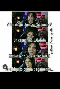 Hahahahaha 😂 capuchino now its make sences Funny Spanish Memes, Spanish Humor, Funny Memes, Marvel Universe, Mexican Memes, Yandere, Funny Comics, Best Memes, Youtubers
