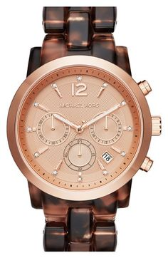 MICHAEL Michael Kors Michael Kors 'Audrina' Chronograph Acetate Bracelet Watch, 42mm available at #Nordstrom