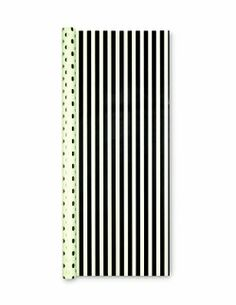 Kate Spade Reversible Gift Wrap - Gold Dots/Black Stripe - Set of 2 - free shipping