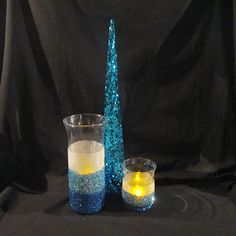 DIY Glitter Candle Holder Winter Craft