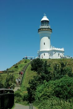 Cape-Byron-Lighthouse-Byron-Bay Northern Rivers New South Wales NSW Australia Byron Shire Little Wategoes Beach Surfing Tallows The Pass Walking Track Byron Bay Beach, Bay Lights, Sense Of Place, Sunshine State, Travel List, South Wales, Capital City, Bay Area, Fotografia