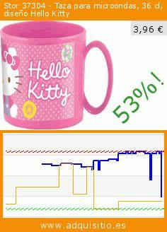 Stor 37304 - Taza para microondas, 36 cl, diseño Hello Kitty (Cocina). Baja 53%! Precio actual 3,96 €, el precio anterior fue de 8,37 €. https://www.adquisitio.es/hello-kitty/taza-microondas