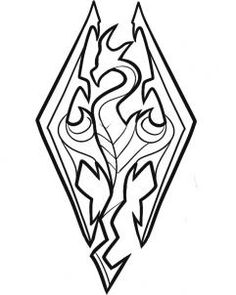 How to Draw Skyrim, Skyrim Logo, Step by Step, Video Game Characters, Pop Culture, FREE Online Drawing Tutorial, Added by Dawn, January 14, 2012, 7:17:35 am