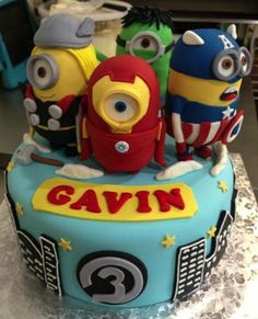 It's an Minion Avengers cake. I have no words.