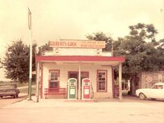 Conoco Gas Station, Friendship TX is a ghost town now under Lake Granger, 50 miles NE of Austin