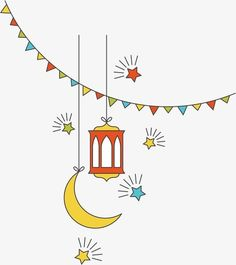 Flat islamic culture new year vector decorative elements PNG and Vector Ramadan Images, Ramadan Cards, Eid Mubarak Greeting Cards, Eid Mubarak Greetings, Eid Mubarak Wallpaper, Ramadan Poster, Eid Stickers, Ramadan Background, Ramadan Activities