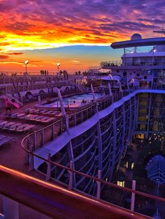 Bold sunset views from Allure of the Seas.