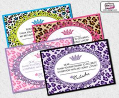Leopard Print  Thank You Cards by MetroEvents on Etsy, $5.98