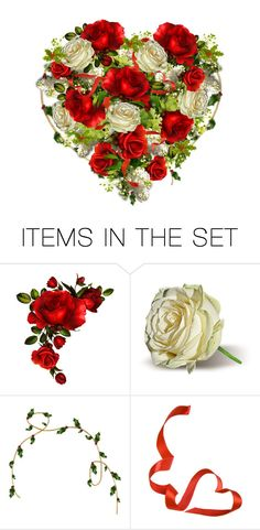 """Rose Bouquet - December Bride"" by emjule ❤ liked on Polyvore featuring art"