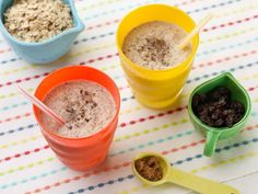 This all-in-one Oatmeal Cookie Smoothie makes a nice change of pace for a summer breakfast or afternoon snack. Your kids can help you make this: let them measure the ingredients--it's the perfect time to teach them the difference between wet and dry ingredient measuring cups.